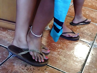 Sexy Candid Asian Feet and Legs with respect to Flip Flops