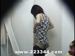 Snooping the locker room of Japanese babes by hidden cam.
