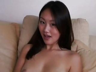 Evelyn Lin gets her lovely feet jizzed