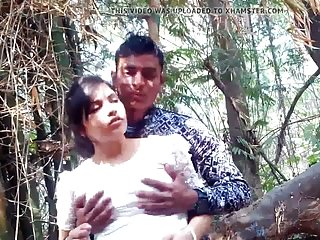 desi couple outdoor