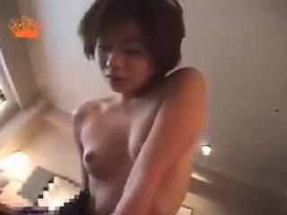 Mature Japanese babe enjoys Japanese throes