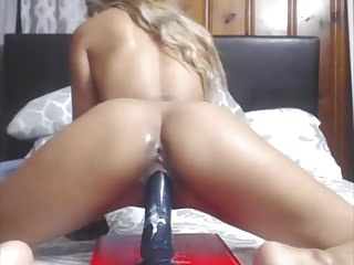 Sexy filipina creamy pussy riding bbc dildo on cam