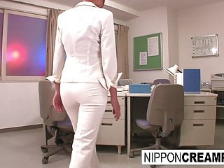 Young new office intern gets initiated with respect to team a few firm cocks