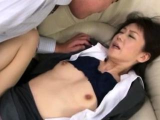 Hawt japanese older gets her moist tits sucked far downwards