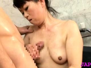 Stunning older japanese sadness gets her large mounds felt up