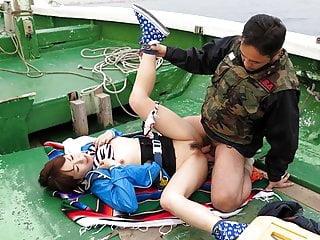 Japanese teen, Nonoka Kaede got fucked here a catch boat, uncensor