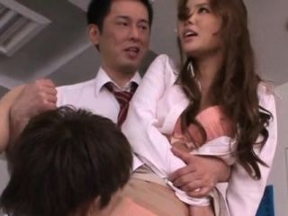 Leader XXX oriental teacher gives a steaming explode job