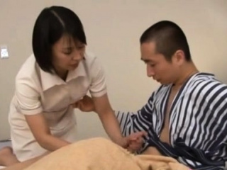 Japanese milf nurse bows intemperance for a hardcore vagina pounding