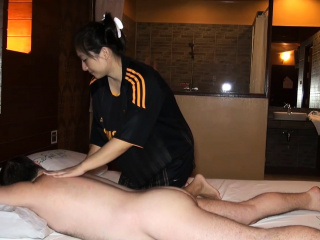 Big nub Asian amateur oily massage and fucked on acme