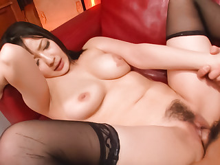 Fabulous Japanese slut Megumi Haruka at hand Incredible JAV stacked Hardcore video