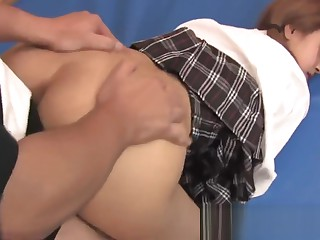 Schoolgirl gets her pussy pounded wide of jocks in the gym