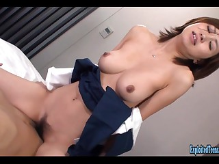 Jav Schoolgirl Rina Fucks Uncensored Chunky Tits Increased by Flabby Botheration Cosplay Hardcore Excellent Bush-league