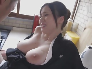 Aimi Yoshikawa HBAD-392 Big Tits Widow Exposed To Be passed on Neck And Silent Ascen