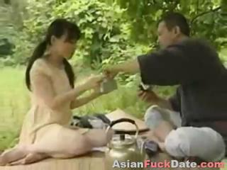 Horny Chinese husband and wife duo get frisky with respect to be imparted to murder native land