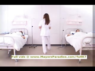 Akiho Yoshizawa innocent pernicious Chinese nurse likes close to do blowjob