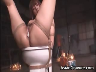 Cute asian babe in bondage sex gets part5